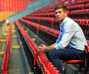 red, Steven Gerrard, and merseyside image