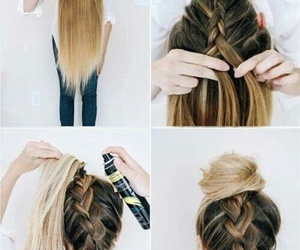 diy, Easy, and hair image