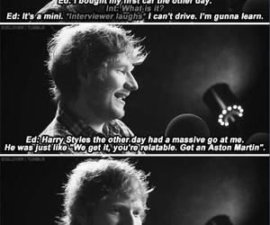 ed sheeran and Harry Styles image