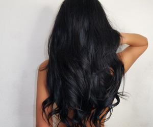 black, hair, and black hair image