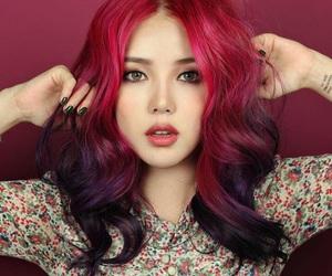 hair, pony, and park hye min image