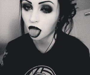 alt girl, gothic, and make up image