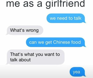 angry, boyfriend, and chinese food image