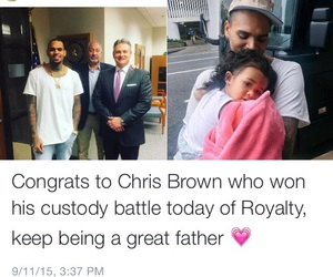 baby, chris brown, and family image