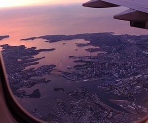 airplane, travel, and city image