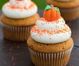 cupcake, pumpkin, and autumn image
