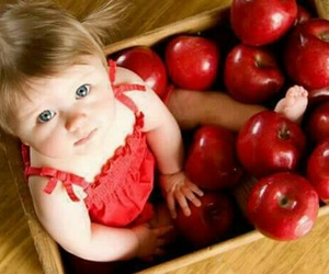 apple, baby, and cute image