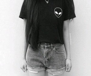 alien, black, and tumblr image