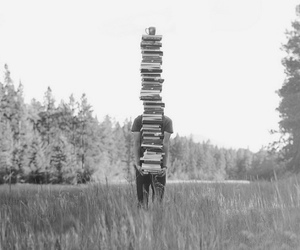 book, boy, and nature image