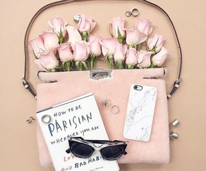 rose, pink, and bag image