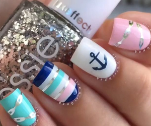 colours, marine, and nails image