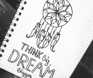 Dream, draw, and notebook image