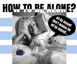 alone and Marilyn Monroe image