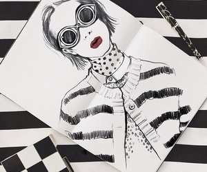 draw, girl, and art image