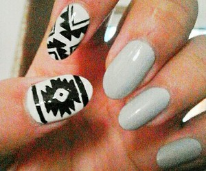 aztec, diy, and nails image