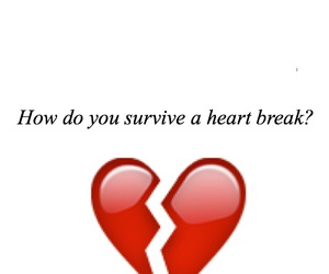 broken, heart, and help image