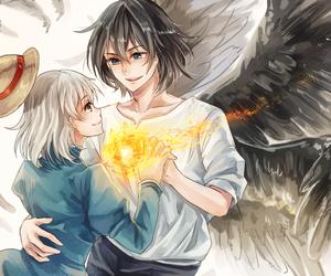 anime, art, and anime couple image