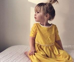 girl, dress, and baby image