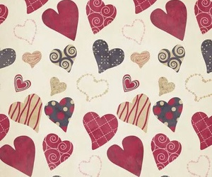 background, hearts, and pattern image
