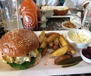 burger, food, and french image