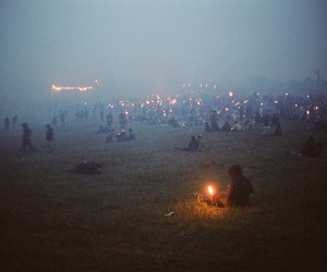 fire, people, and light image