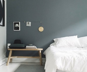 bedroom, gold, and grey image