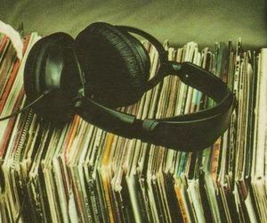 music, headphones, and vintage image