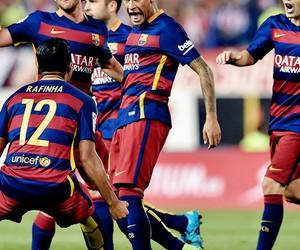 Barca, football, and happy image