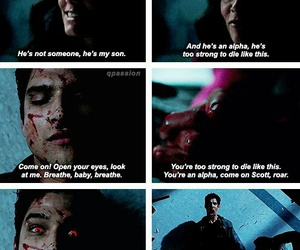 teen wolf, scott mccall, and melissa mccall image