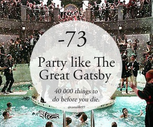 party, fun, and great gatsby image