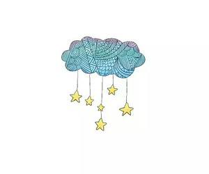 stars, clouds, and overlay image