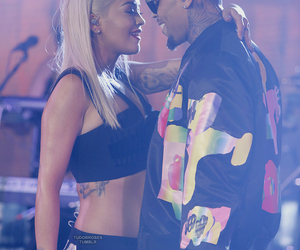 chris brown, rita ora, and breezy image