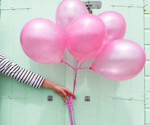 balloons, pink, and tumblr image