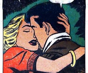 pop art, comic, and couple image
