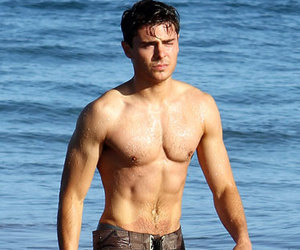 zac efron, Hot, and beach image