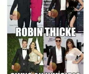 robin thicke and funny image
