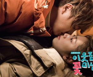 couple, first kiss, and kiss image