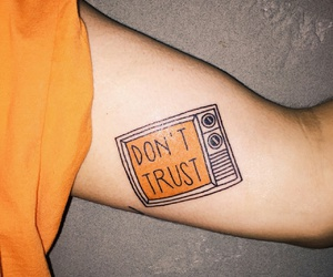 tattoo, orange, and tv image