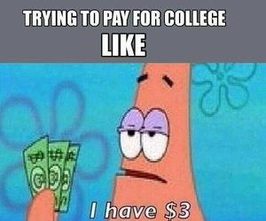 funny patrick college image