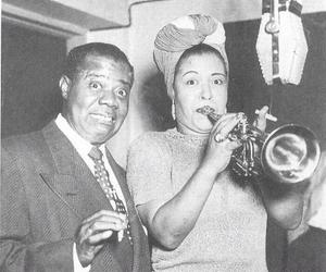 billie holiday and louis armstrong image