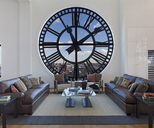 house, clock, and home image