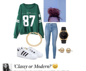 adidas, hair, and Polyvore image