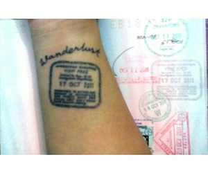 ink, tattoo, and travel image