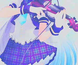 anime, violin, and anime girl image