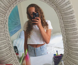 blonde, curly hair, and summer image