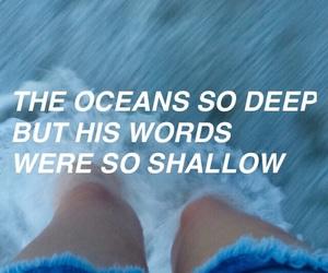 ocean, blue, and deep image