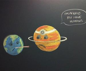 earth, humans, and planet image
