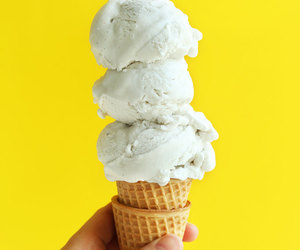 ice cream, dessert, and food image