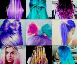 hair, colors, and pink image