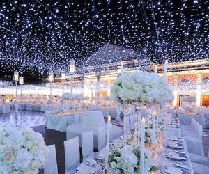 wedding, light, and flowers image